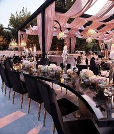 Now that's a reception set up (perhaps more white). 😍 Tent Wedding, Magical Wedding, Party Wedding, Wedding Reception Dresses, Wedding Goals, Fall Wedding, Wedding Ideas, Wedding Styles, Perfect Wedding