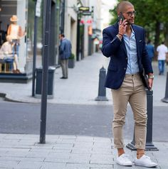 Street Style: Kosta Williams in the Kaplan White Royal Perforated