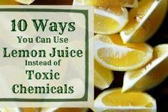 Lemon juice uses