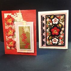 Look at these beautiful handmade cards #handmadecards #washi #cards #hankodesigns #flowers