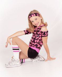 Jazz Hip Hop Dance Costume Pink and Black | eBay