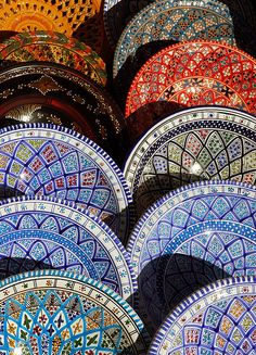 Pottery - Sidi Bou Said, Tunisia by M. Khatib, via Flickr. Def got some!