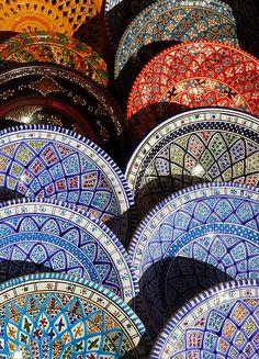 Pottery - Sidi Bou Said, Tunisia by M. Khatib, via Flickr. Def got some!