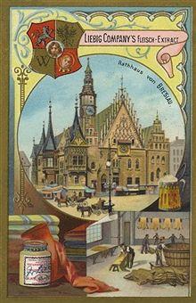 Rathaus von Breslau 1896 (Werbung Liebig Fleisch-Extract)