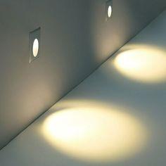 1W LED Recessed Light Walkway Step Stair Wall Corner Flood Spot Lamp AC85-265V