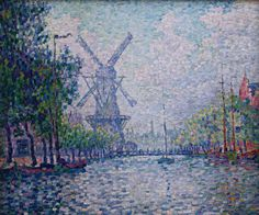 The Athenaeum - Mill on a Canal in Rotterdam (Paul Signac - )