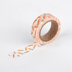 17 carrot - carrot washi tape - masking tape- craft supplies- scrapbooking- card making- weddings-decorative tape- packaging-dailylike by Dailylike on Etsy