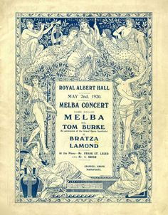 Dame Nellie Melba at the Royal Albert Hall on 2nd May 1920.  Nellie Melba [Helen Porter Mitchell] born 19th May 1861 died 23rd February 1931 becoming Dame Nellie Melba in 1918.   The great Australian soprano had her first starring role at the Théâtre de La Monnaie, Brussels on 12th October 1887 as Gilda in Verdi's Rigoletto and appeared the same year at Covent Garden with little success. However she sang Lucia in Lucia di Lammermoor there in 1st June 1888 to resounding success.
