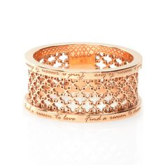 BIRKS MUSE™ Collection, Wide Mesh Ring, in 18kt Rose Gold