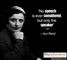 No #speech is ever considered, but only the speaker. #quotes #publicspeaking