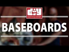 How to install baseboard molding - YouTube
