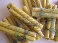 Beeswax Honeycomb Tapers – Set of Two | Beeswax Candles