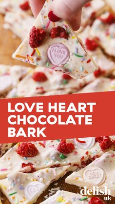 Say 'I love you' with this Love Heart Chocolate. Simply four ingredients, and only taking around 10 minutes to make, you've got yourself the most adorable, edible Valentine's present! Valentines Day Chocolates, Valentines Day Desserts, Valentine Chocolate, Valentine Treats, Holiday Treats, Christmas Treats, Most Popular Desserts, Easy Desserts, Dessert Recipes