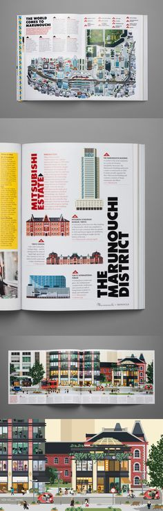 Marunouchi map and illustration for Monocle Magazine by Hey.