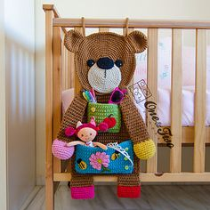 Ravelry: Teddy Bear Organizer pattern by Carolina Guzman - paid pattern Teddy Bear Organizer PDF Crochet Sample Immediate Obtain For every minute spend in organizing, an hour is earned 😊 Teddy bear organizer pattern in my stories. One and Two Company C Crochet Teddy, Crochet Bear, Love Crochet, Crochet Gifts, Crochet For Kids, Crochet Dolls, Blanket Crochet, Crochet Shirt, Crochet Design