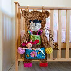 Ravelry: Teddy Bear Organizer pattern by Carolina Guzman