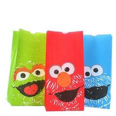 Sesame Street Paper Lunch Bags 20 pc 2 pks Treat Party Favors Elmo Birthday NEW