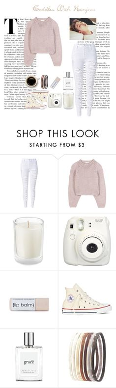 """""""Cuddles W/ Namjoon"""" by pastelsandflowers ❤ liked on Polyvore featuring Chloé, Fujifilm, Converse, philosophy and Charlotte Russe"""