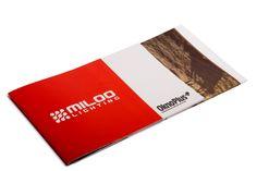 Milo folder reklamowy #druk #folder #miloo #design #brandbook #digital #cyfra