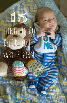 15 IMPORTANT things to do before your baby is born. These tips will help you get everything in order before you bring your newborn baby home from the hospital. Some of these tips you may not have even thought about.