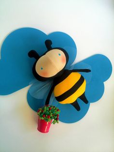 Honey bee toy Bumble bee Bees Gift for by HandmadeToyStore on Etsy