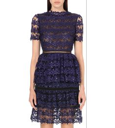 Embroidered lace dress http://bit.ly/1Ly6Wf6