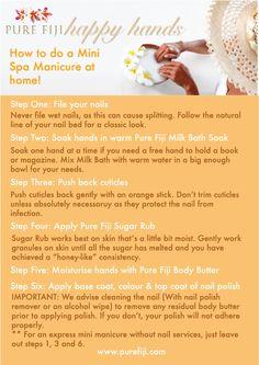 Happy Hands DIY Spa Manicure! - Pure Fiji