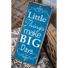 Little things make big days Blue Design, Little Things, Big Day, Motivation, Cool Stuff, Words, How To Make, Instagram, Home Decor