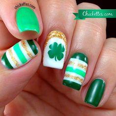 St. Patrick's Day Nails - 66 Best St. Patrick's Day Nail Art - Nail Art HQ