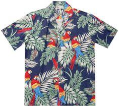 Parrot Scene Men's Hawaiian Shirts