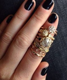 taking ring stacking to a whole other level.