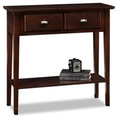 Espresso Wood Console Hall Sofa Table w 3 Foldable Baskets