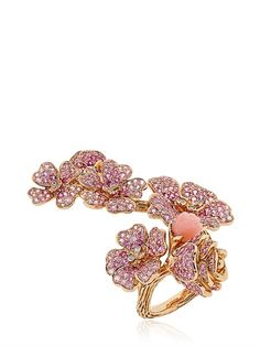 MORPHEE JOAILLERIE - CHERRY BLOSSOMS COLLECTION RING - LUISAVIAROMA - LUXURY SHOPPING WORLDWIDE SHIPPING - FLORENCE