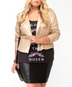 @Forever 21 #plussize sequined cropped blazer #PlusSizeStyle #FridayFavorites