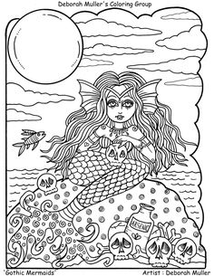179 Best mermaids to color images