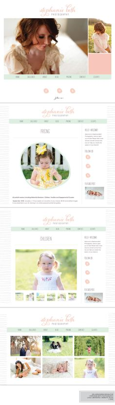 Deluxemodern Design for Stephanie Beth Photography. Branding | Website | Blog. #photography #logo