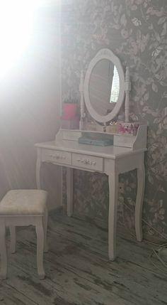 Vanity, Mirror, Vintage, Furniture, Home Decor, Lowboy, Vanity Area, Homemade Home Decor, Dressing Tables