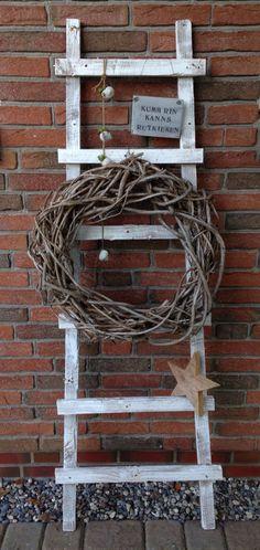 DIY Leiter aus alten Holzlatten