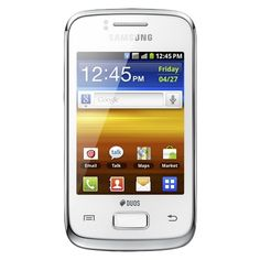 Low Price Samsung GT-S6102 Galaxy Y DUOS Unlocked Dual SIM Phone White | Mastering The Online World