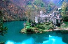 Isola Santa in Tuscany. This picture looks like a fairy tale. Having a hard time finding any info about it in English, though.