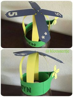 Helikopter hoed Crazy Hat Day, Crazy Hats, Helicopter Craft, Art For Kids, Crafts For Kids, Classroom Birthday, Travel Crafts, Paper Bouquet, Kids Church