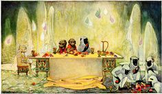 THEY FEASTED ON FRUITS THEY NEVER BEFORE HAD TASTED NOR KNEW TO GROW ON EARTH by Dorothy P. Lathrop