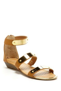 Bucco Gold Plate Zip Sandal by Non Specific on @HauteLook