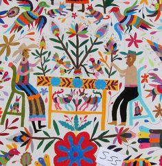 Otomi indian embroidery from Tenango de Doria Hidalgo,Mexico | Flickr - Photo Sharing!