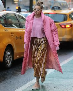 """2,173 Likes, 15 Comments - Filling Pieces Footwear (@fillingpieces) on Instagram: """"@gigihadid out in NYC wearing a 1/1 custom version of the signature Low Top Ghost in all pink. ."""""""