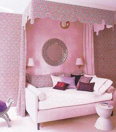 Elle Decor Bedrooms | Elle Decor Pink Canopied Bedroom | Annette Tatum