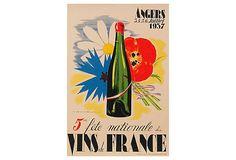 """Vins De France"" Print on OneKingsLane.com"