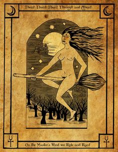 """Thout, thout, thout, Through and About Illustration from """"The Elphillock Gramarye"""", Robin Artisson Medieval Witch, Pagan Witch, Witches, Wiccan, Traditional Witchcraft, Witch Art, Creepy Art, Weird Creatures, Book Of Shadows"""
