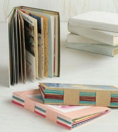 Paper art project | Lee Steiner, ClothPaperScissors.com- make  a book using old greeting cards