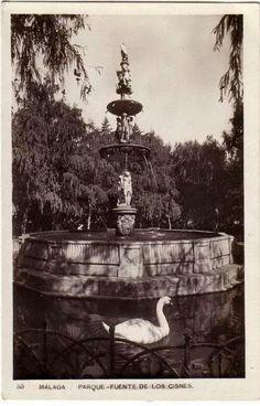 Fuente de Génova en el parque de Málaga